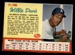 1962 Post #106  Willie Davis   Front Thumbnail