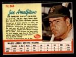 1962 Post #144  Joe Amalfitano   Front Thumbnail