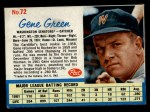 1962 Post #72  Gene Green   Front Thumbnail