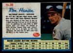 1962 Post #30 Xdsh Ron Hansen   Front Thumbnail