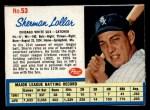 1962 Post Cereal #53  Sherman Lollar   Front Thumbnail