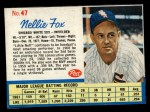 1962 Post #47  Nellie Fox   Front Thumbnail