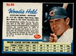 1962 Post #44  Woodie Held  Front Thumbnail