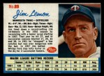1962 Post Cereal #89  Jim Lemon   Front Thumbnail