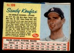 1962 Post #109 RED Sandy Koufax  Front Thumbnail
