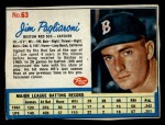 1962 Post Cereal #63  Jim Pagliaroni   Front Thumbnail