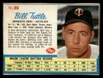 1962 Post #88  Bill Tuttle   Front Thumbnail