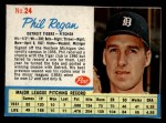 1962 Post #24  Phil Regan   Front Thumbnail