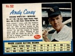 1962 Post #52  Andy Carey   Front Thumbnail