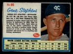 1962 Post #95 ERR Gene Stephens   Front Thumbnail