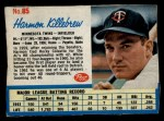 1962 Post #85  Harmon Killebrew   Front Thumbnail