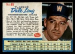 1962 Post #65  Dale Long   Front Thumbnail
