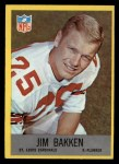 1967 Philadelphia #158  Jim Bakken  Front Thumbnail