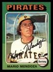 1975 Topps Mini #457  Mario Mendoza  Front Thumbnail