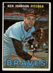 1967 Topps #101  Ken Johnson  Front Thumbnail