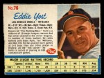1962 Post Cereal #76  Eddie Yost   Front Thumbnail
