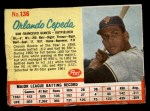 1962 Post #136  Orlando Cepeda   Front Thumbnail