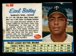 1962 Post Cereal #90  Earl Battey   Front Thumbnail