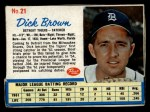 1962 Post Cereal #21  Dick Brown   Front Thumbnail
