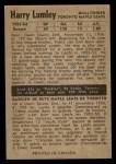 1954 Parkhurst #16  Harry Lumley  Back Thumbnail