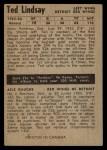 1954 Parkhurst #46  Ted Lindsay  Back Thumbnail
