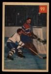 1954 Parkhurst #99   -  Jacques Plante / Ted Kennedy Placid Plante Foils Tiredless Teeder Front Thumbnail
