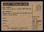 1954 Parkhurst #13  Paul Masnick  Back Thumbnail