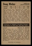1954 Parkhurst #57  Doug Mohns  Back Thumbnail