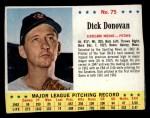 1963 Jello #75  Dick Donovan  Front Thumbnail