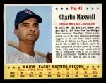 1963 Jello #41  Charlie Maxwell  Front Thumbnail