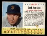 1963 Jello #110  Jack Sanford  Front Thumbnail
