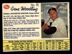 1962 Post Canadian #71  Gene Woodling  Front Thumbnail