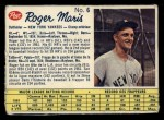 1962 Post Canadian #6  Roger Maris  Front Thumbnail