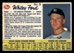 1962 Post Canadian #9 LA Whitey Ford  Front Thumbnail
