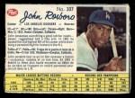 1962 Post Canadian #107  John Roseboro  Front Thumbnail