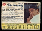 1962 Post Canadian #17  Chico Fernandez  Front Thumbnail