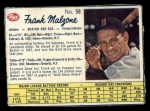 1962 Post Canadian #58  Frank Malzone  Front Thumbnail