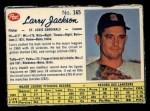 1962 Post Canadian #165  Larry Jackson  Front Thumbnail