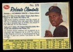 1962 Post Canadian #173  Roberto Clemente  Front Thumbnail
