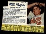 1962 Post Canadian #34  Milt Pappas  Front Thumbnail