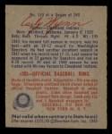 1949 Bowman #110  Early Wynn  Back Thumbnail