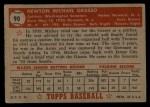 1952 Topps #90  Mickey Grasso  Back Thumbnail