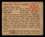 1950 Bowman #41  Hoot Evers  Back Thumbnail