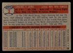 1957 Topps #2  Yogi Berra  Back Thumbnail