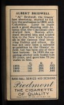 1911 T205  Al Bridwell  Back Thumbnail