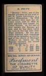 1911 T205  Barney Pelty  Back Thumbnail