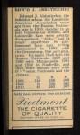 1911 T205  Ed Abbaticchio  Back Thumbnail