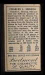 1911 T205  Buck Herzog  Back Thumbnail