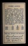 1911 T205 #5  Jimmy Austin  Back Thumbnail