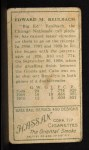 1911 T205 #155  Ed Reulbach  Back Thumbnail